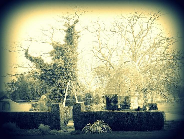 Garden with olde world tweek.