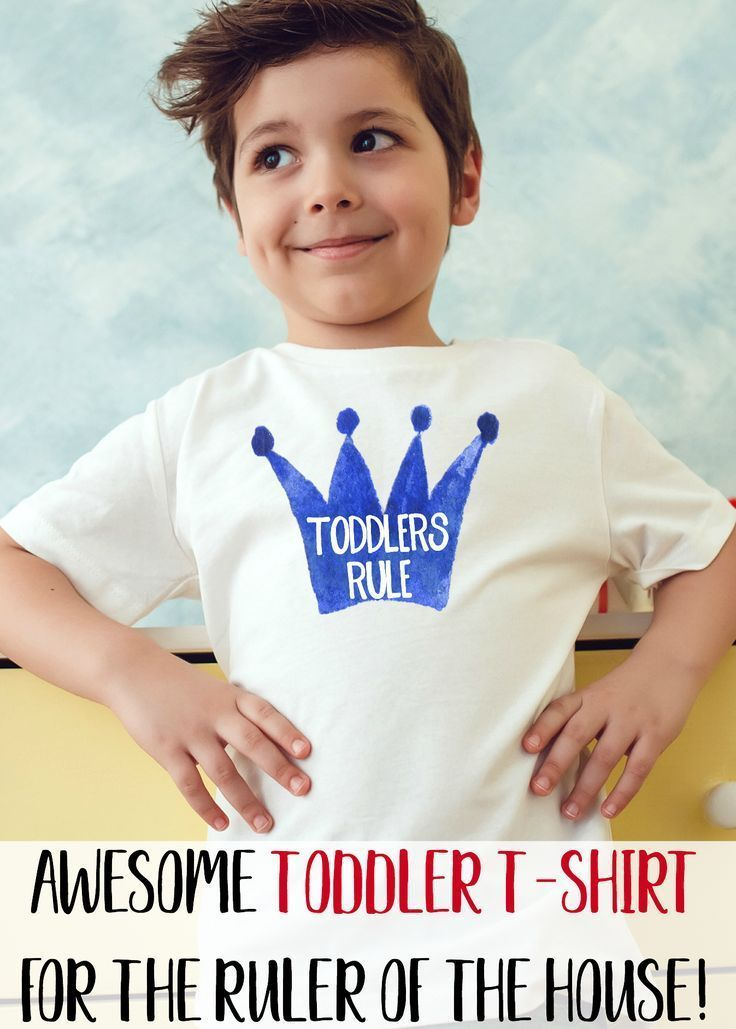 Toddlers rule, as we all know! Two year olds and three year olds are awesome and they rule! Adorable toddler birthday t-shirt, fun for new parents, back to school and first day of preschool shirt. Prince or princess crown on funny toddler t-shirt. Celebrate your toddler's strong will. Funny parenting t-shirt for two-year olds and three year-olds. Your toddler is the king or queen of the castle and that's just fine! ^-^ Parents: Watch This FREE Video Lesson https://tpv.sr/1QoBwR7/