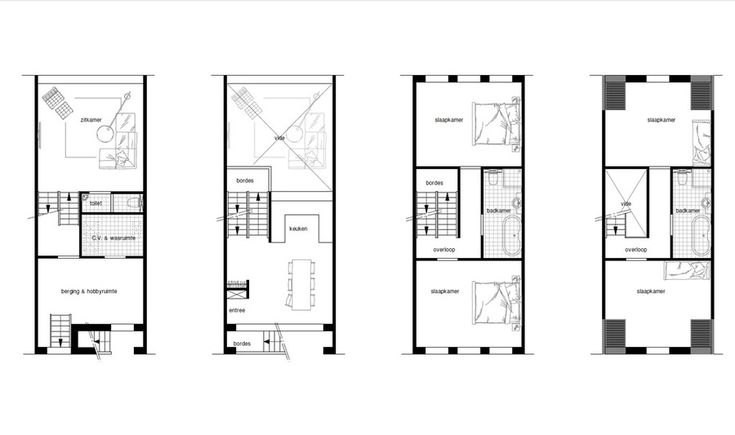 Modern grachtenpand - B-WvH architectural designs & Bo.2 architectuur en stedenbouw b.v. - Bouwboek