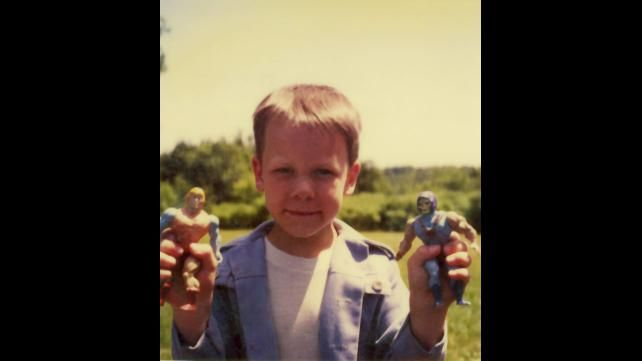 John Cena as a little kid playing with his He-Man action ...