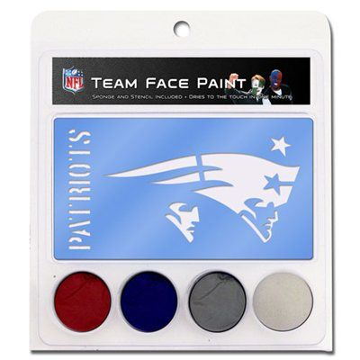 New England Patriots Face Paint with Stencils