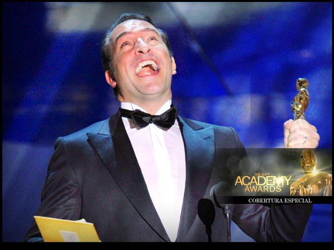El gran ganador: Jean Dujardin  Un actor francés desconocido para Hollywood hasta que la película El artista lo posicionó en la mira con su excelente actuación en la cinta muda en blanco y negro.  Es el primer francés en conseguir la estatuilla en la categoría de mejor actor.