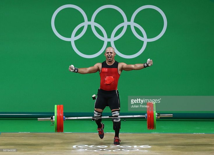 Bredni Roque Mendoza of Mexico competes during the Men's 69kg Group A Weightlifting contest on Day 4 of the Rio 2016 Olympic Games at the Riocentro - Pavilion 2 on August 9, 2016 in Rio de Janeiro, Brazil.