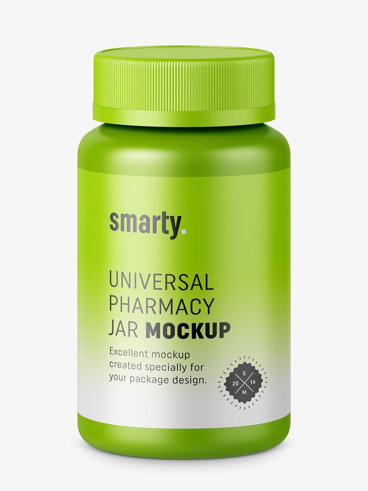 Medicine jar mockup