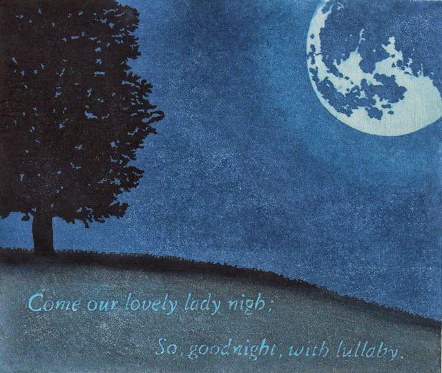 A Midsummer night's dream #mokuhanga #print #art #stampa Mara Cozzolino exhibition
