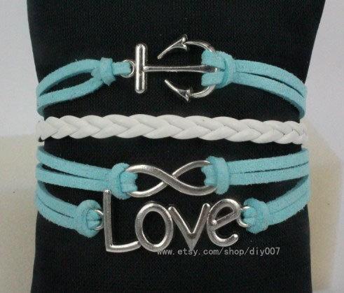 Infinity bracelet - love anchor bracelet for girls, Girlfriend and BFF, gift for birthday by Diy007, $4.99
