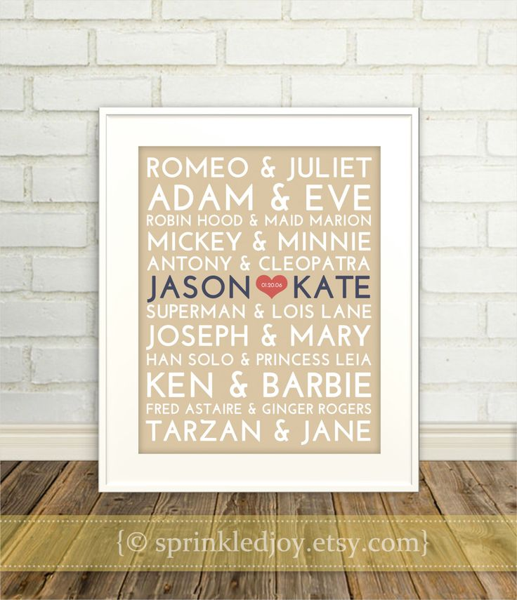 Famous Couples Subway Print  8x10 Fully by SprinkledJoy on Etsy, $14.95