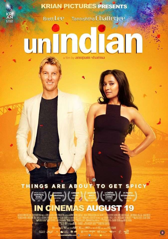 Unindian movie promotion featuring Brett Lee and Tannishtha Chatterjee at Oberoi…