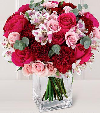 Smf 19 Alstoemeria Pink Red Flower Arrangement Most Beautiful