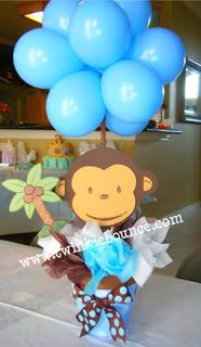 baby shower monkey baby shower yellow shower baby monkey centerpiece