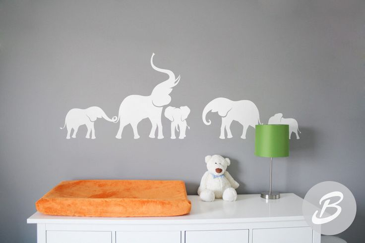 Elephant wall decal Nursery wall decal Large wall decor with elephant Wall sticker with elephants Wall art Removable vinyl decal -AI005 by TheAmeliaDesigns on Etsy https://www.etsy.com/listing/290907437/elephant-wall-decal-nursery-wall-decal