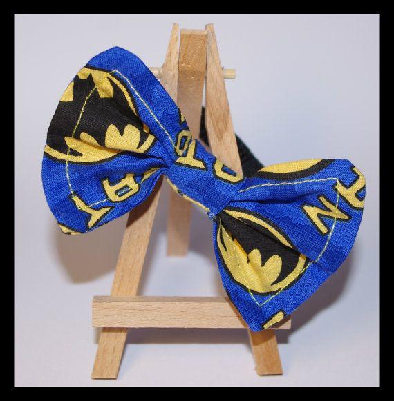 Batman Bow Tie Cat Collar