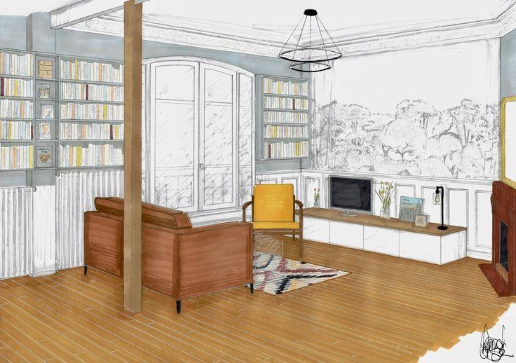 Les 7 meilleures images du tableau projet r novation salon - Salon indien colombes ...