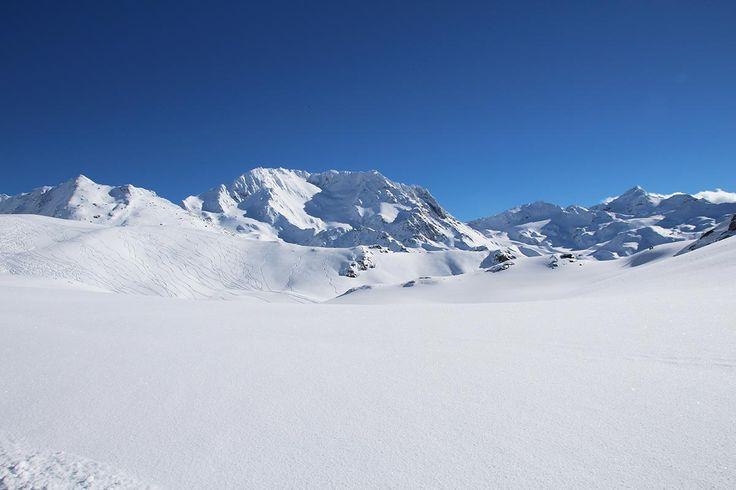 Vue sur le sommet Peclet - Val Thorens - Fev 2015