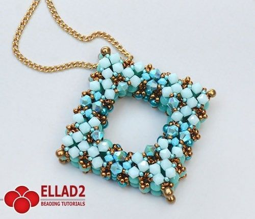 Beading Tutorial for La Plaza Pendant is very detailed, step by step. You should be familiar with Right Angle Weave stitch.