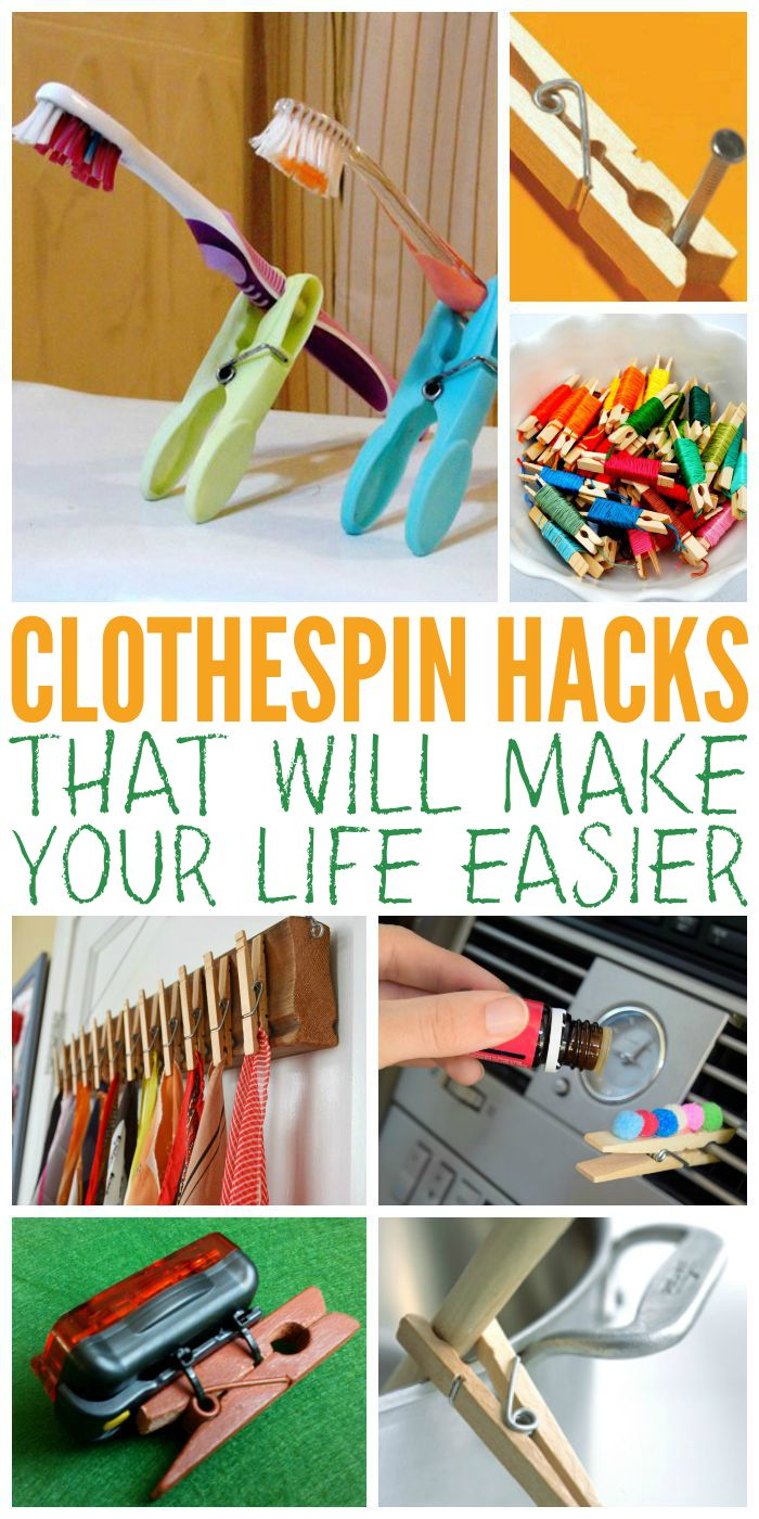 Clothespin Hacks That Will Make Your Life Easier - One Crazy House