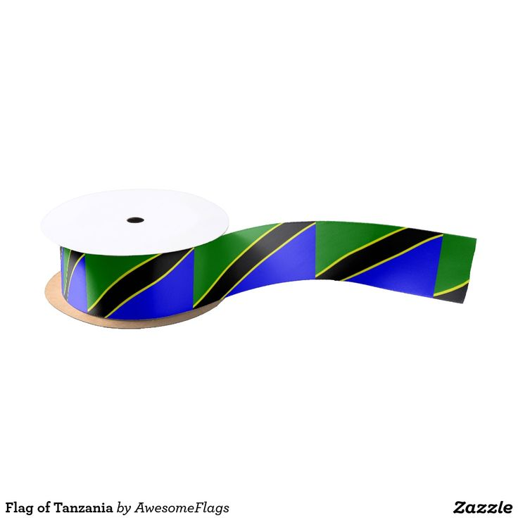 Flag of Tanzania Satin Ribbon