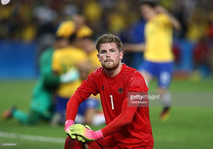 Timo Horn of Germany reacts as Neymar of Brazil scores the winning penalty in the penalty shoot out during the Men's Football Final between Brazil and Germany at the Maracana Stadium on Day 15 of the Rio 2016 Olympic Games on August 20, 2016 in Rio de Janeiro, Brazil.