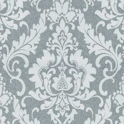 Alle spalle del letto!!!  Decorazione-Carta da parati Damasco bianco grigio grigio 10 m-35959882