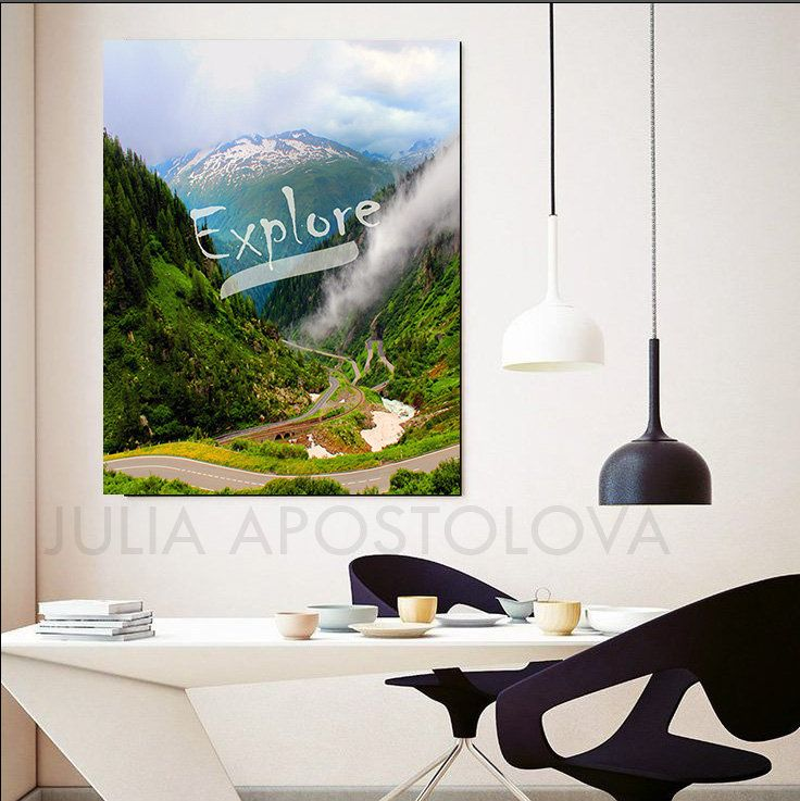 Its Time To Travel Motivational Wall Art