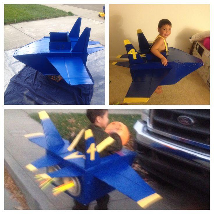 Airplane Halloween costume #craftymom #blueangel #mysonlovesjets