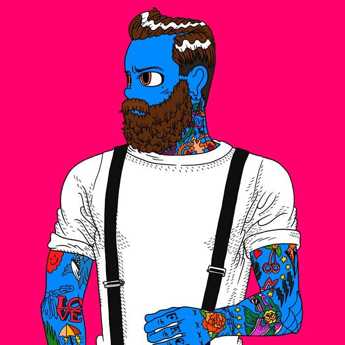 oldschool tatoo man