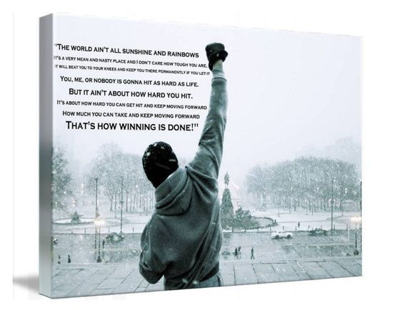 Rocky Balboa Movie Canvas Wall Art Huge Print A1 by TheGeekyPrint