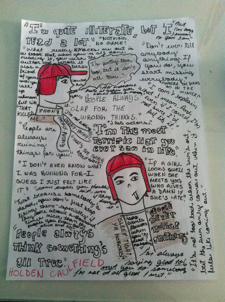 The catcher in the rye. Holden Caulfield quotes! Made by me!!