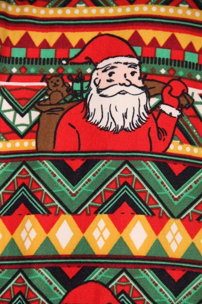 NWT LuLaRoe TC Tall & Curvy Leggings Christmas Holiday Red Green Santa Aztec #LuLaRoe #Leggings