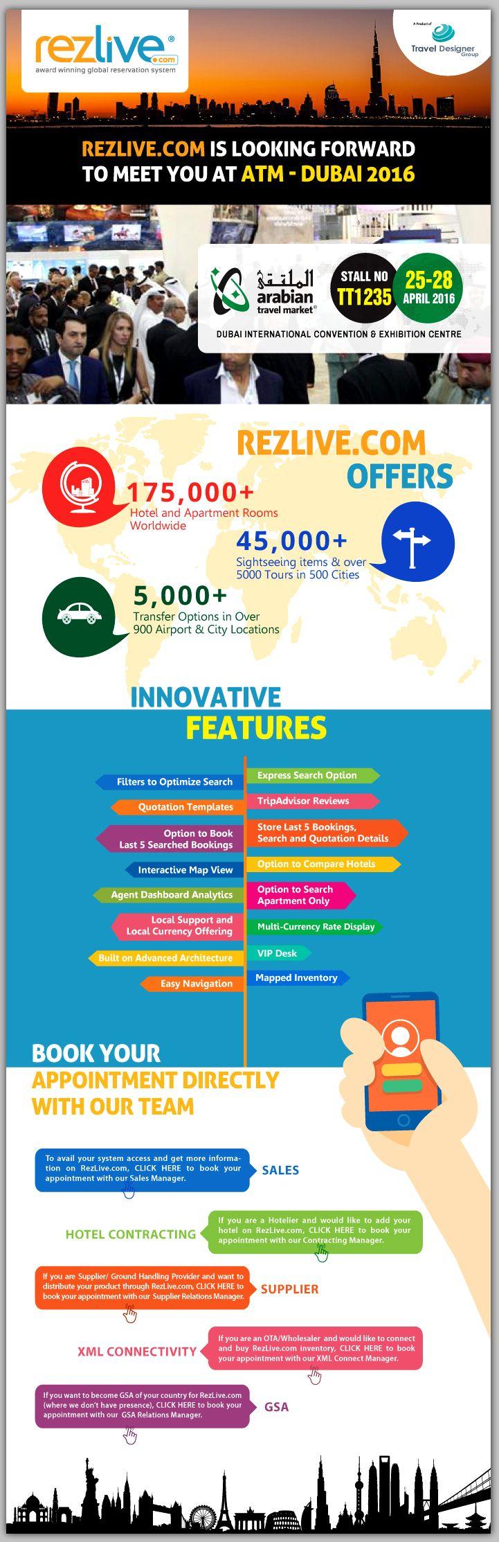 Meet RezLive @ ATM, Dubai | Booth No TT1235 | 25-28 April