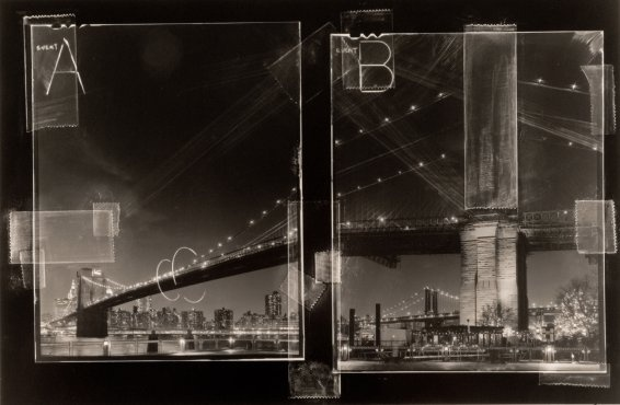 Brooklyn Bridge by Vincent Serbin  Negative Collage