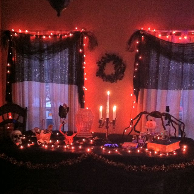 halloween table decorating ideas halloween home decorating ideas - Halloween Light Ideas
