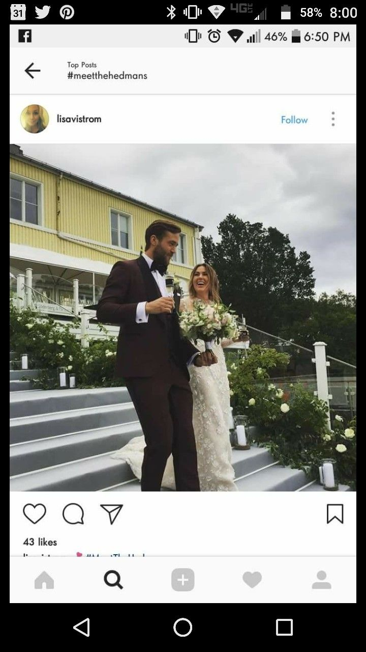 Victor Hedman got married. Go Bolts