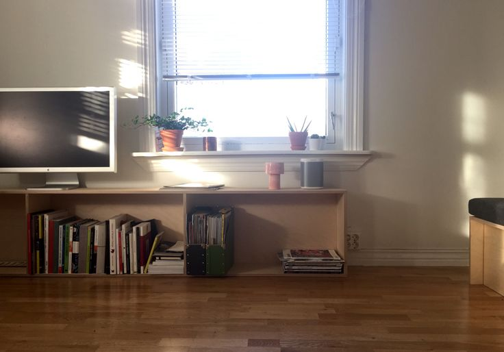 Starting to look like a living room. First bookshelf is done. Next one will have to wait.