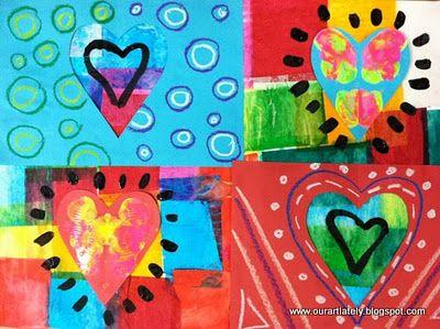 we heart art: heARTwork, project 2 (first grade)
