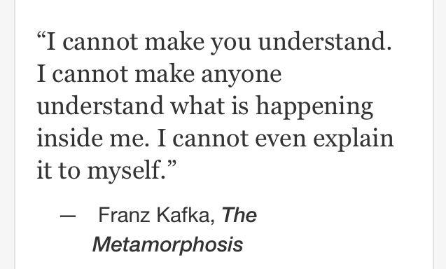 Franz Kafka, The Metamorphosis.