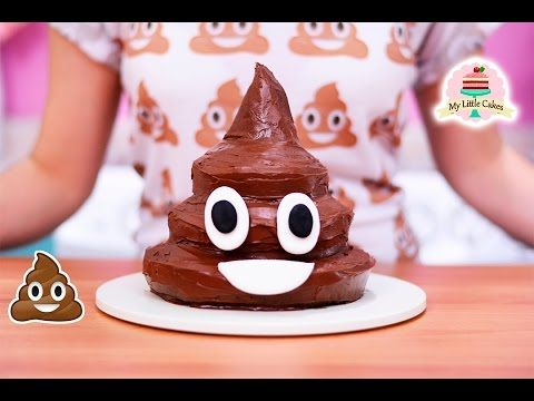 Click here to learn how to make chocolate poop emoji cake!
