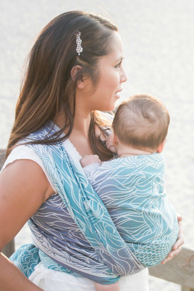 Blue and purple Mermaid woven wrap baby carrier! Lorelei Anthias - Woven Wrap Woven Wrap - Baby Tula