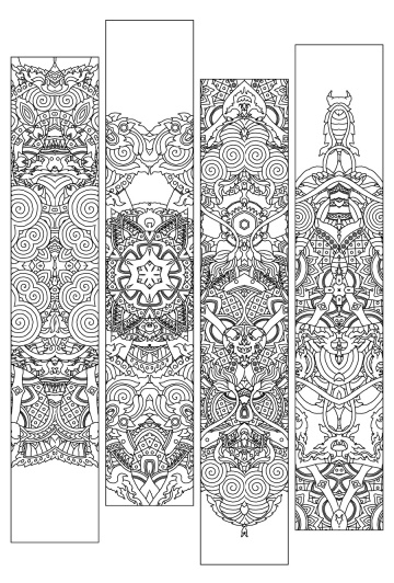 1000 images about Lets Color Bookmarks