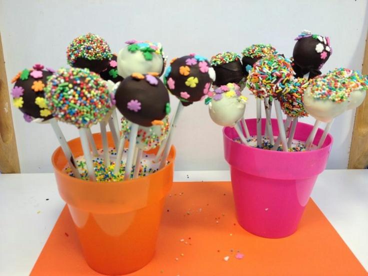 Las cakepops de mi hermana! Riquisisimas!!
