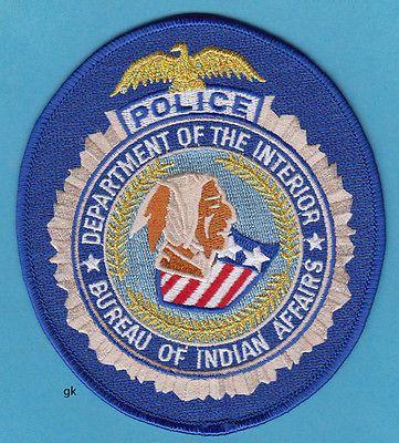 Deptartment Of The Interior Bureau Indian Affairs Tribal Police Shoulder Patch