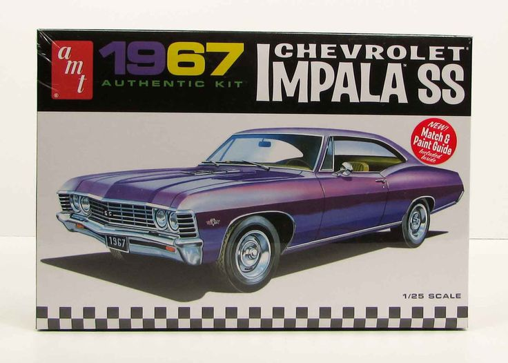 1967 chevy impala ss amt 981 1 25 new car plastic model kit. Black Bedroom Furniture Sets. Home Design Ideas