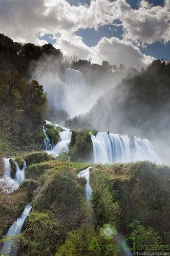 Never heard of this...A must see. Umbria, Italy. Cascata delle Marmore or more popularly known as Marmore's Falls. Its source of water is the Velino River. This 165-meter man-made waterfall was created by the ancient Romans. It's one of the tallest in Europe and the tallest man-made waterfall in the world.  It is located 7.7 km from Terni, a provincial capital of the Italian region of Umbria.