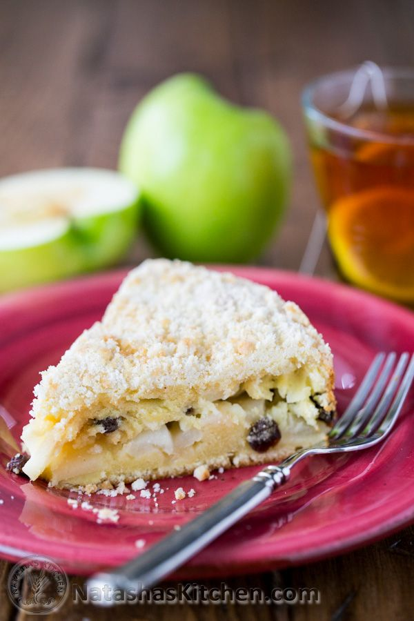 """This is a simple and scrumptious country apple cake. Tanya, one of the ladiesI sit next to in choir, shared this recipe with me. It's also known as """"Domashny"""" which translates loosely to """"from home."""" It sure is homey and so easy to put together...."""