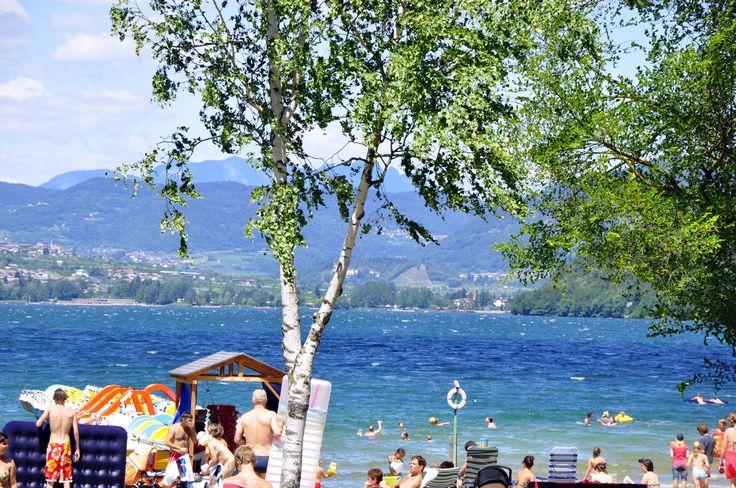 Panoramic view Caldonazzo Lake