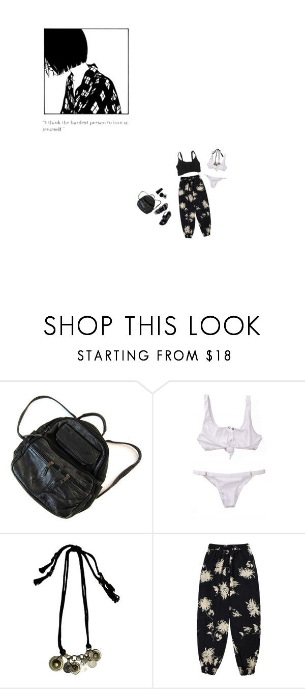 """The hardest person to love..."" by soofir ❤ liked on Polyvore featuring Bobbi Brown Cosmetics, Ancient Greek Sandals and Beach Bunny"