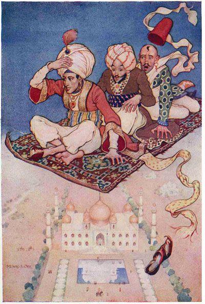 The Arabian nights (1913) Illustrations by Monro S. Orr, _The magic carpet .