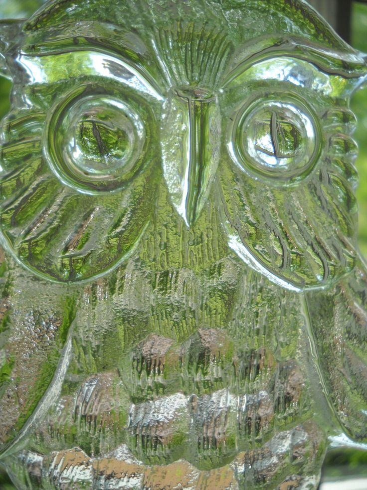 Boda Kosta Boda Clear Glass Owl Sun Catcher Bertil Vallien by Modernaire on Etsy