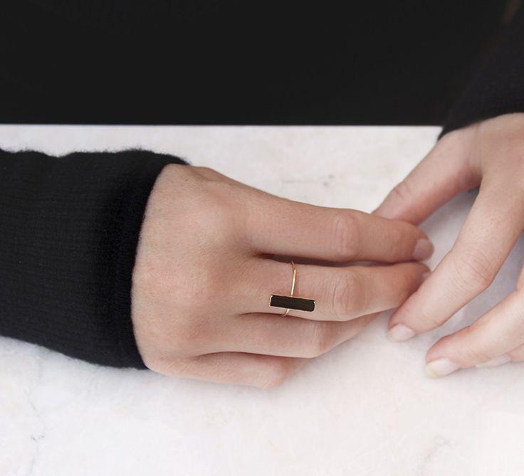 Green Tourmaline Ring in 14k Yellow Gold - Satsuki Shibuya x Vrai & Oro