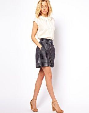 ASOS Shorts in Polka Dot Jacquard